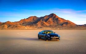 Обои Небо, Авто, Горы, Черный, Пустыня, Nissan, GT-R