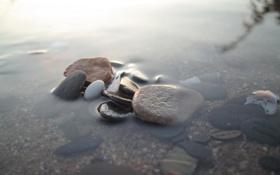 Картинка камни, вода, макро