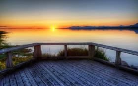 Картинка море, солнце, пейзаж, природа, река