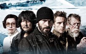 Обои фантастика, постер, Крис Эванс, Chris Evans, Jamie Bell, Tilda Swinton, Snowpiercer