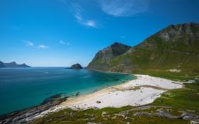 Обои песок, пляж, Горы