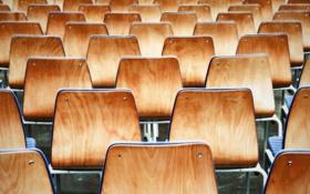 Обои фото, фон, обои, стулья, ряд, древесина, разное
