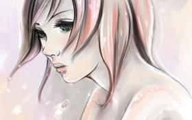 Обои взгляд, девушка, лицо, печаль