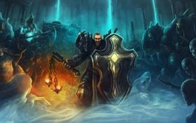 Картинка щит, diablo 3, крестоносец, армия тьмы