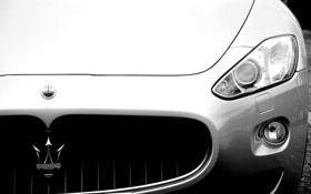 Картинка фары, Maserati, перед, эмблема, cars, auto, Front