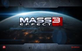 Картинка земля, в огне, Mass Effect 3, bioware