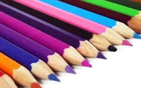 Обои настроения, цветные, карандаши