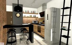 Обои дизайн, стиль, комната, интерьер, кухня
