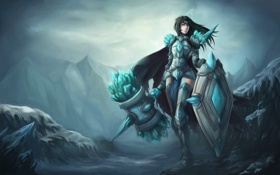 Обои Female, League of Legends, LoL, support, gay lord, Тарик, Taric