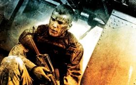 Обои down, солдат, black, фильм, падение, hawk, винтовка