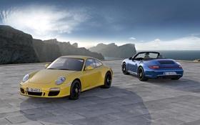 Картинка авто, горы, порше, каррера, Porsche 911 Carrera