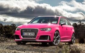 Обои Audi, ауди, розовая, RS 3