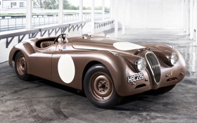 Обои Roadster, Jaguar, Ягуар, классика, передок, 1950, Competition