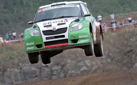 Обои Skoda Fabia S2000, German Car Scene, Skoda - Azores Rally 2010, Intercontinental Rally Challenge