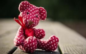 Картинка макро, игрушка, медведь