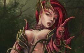 Обои растения, арт, девушка, League of Leguends, Zyra