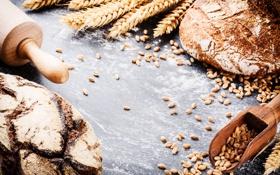Картинка булка, fresh, мука, выпечка, пшеница, хлеб, bread