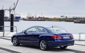 Картинка синий, обои, Mercedes-Benz, автомобиль, мерс, Coupe, E 250