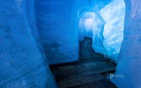 Обои лед, Швейцария, грот, Вале, ледник Рона