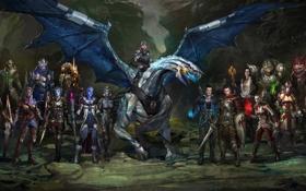 Картинка дракон, арт, герои