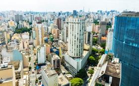 Картинка дома, небоскребы, Бразилия, мегаполис, вид сверху, Sao Paulo