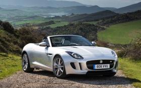 Картинка пейзаж, фон, Jaguar, Ягуар, передок, Ф-тайп, F-Type S
