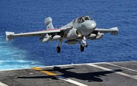 Картинка палуба, самолёт, Grumman, Prowler, палубный, EA-6B