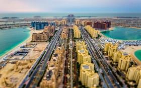 Картинка здания, горизонт, багажник, Дубай, автомобили, Пальма Джумейра, проспекты