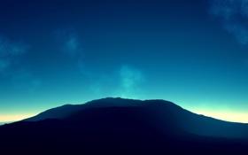 Обои свет, гора, возвышенность