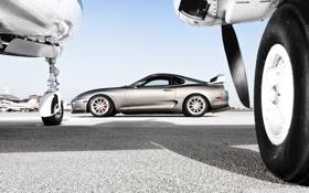 Картинка Самолет, колесо, Аэропорт, Toyota, cars, auto, Supra