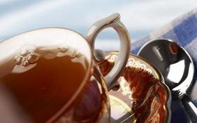Обои узор, чай, капля, полотенце, чашка, блюдце