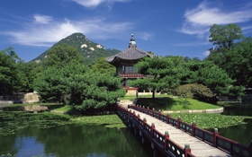 Картинка Korea, in Gyeongbokgung, Hyangwonjeong Pavilion