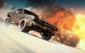 Обои машины, огонь, скорость, погоня, mad max