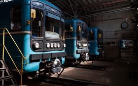 Картинка метро, станция, вагон, локомотив, цех