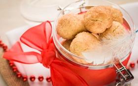 Обои праздник, Рождество, сладости, Новый год, Christmas, печенька, New Year