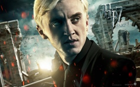 Картинка взгляд, Драко Малфой, Harry Potter and The Deathly Hallows part 2, Гарри Поттер и Дары ...