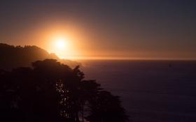 Обои City, Landscape, Sunset, Ocean, San-Francisco, West, Scape