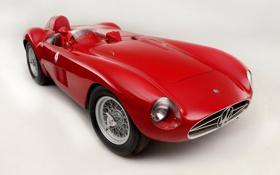 Обои Maserati, Мазерати, классика, передок, 1956, 300S