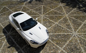 Обои Aston Martin, астон мартин, white, cars, auto, обои авто, Aston Martin Virage