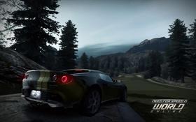 Картинка игра, зад, гонки, World, спорткар, Lotus Elise, Online