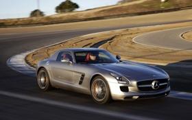 Обои авто, Mercedes-Benz, скорость, поворот