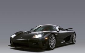 Обои фары, Koenigsegg, чёрная