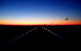 Обои природа, закат, вечер