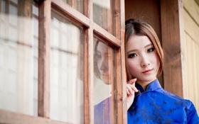 Обои девушка, настроение, азиатка