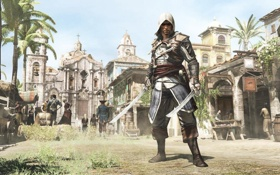 Картинка пират, ассасин, Black Flag, Эдвард Кенуэй, Assassin's Creed IV
