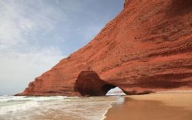 Обои песок, пляж, природа, города, обои, гора, wallpaper