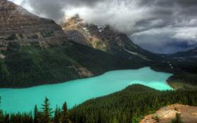 Обои горы, пейзаж, река, природа