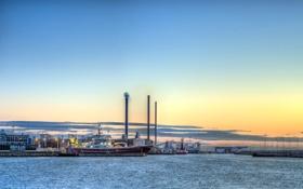 Обои город, порт, Skagen