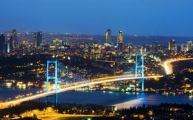 Обои nature, buildings, Босфорский мост, Bosphorus Bridge, природа, Мраморное море, Sea of Marmara