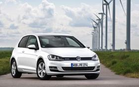 Обои Volkswagen, гольф, Golf, фольксваген, Typ 5G, 3-door, 2015